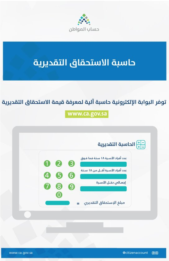 حاسبة برنامج حساب المواطن