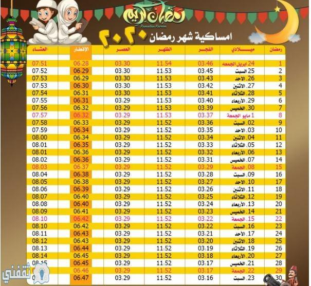 موعد صلاة الفجر والمغرب أول يوم رمضان مواقيت الصلاة في مصر والسعودية