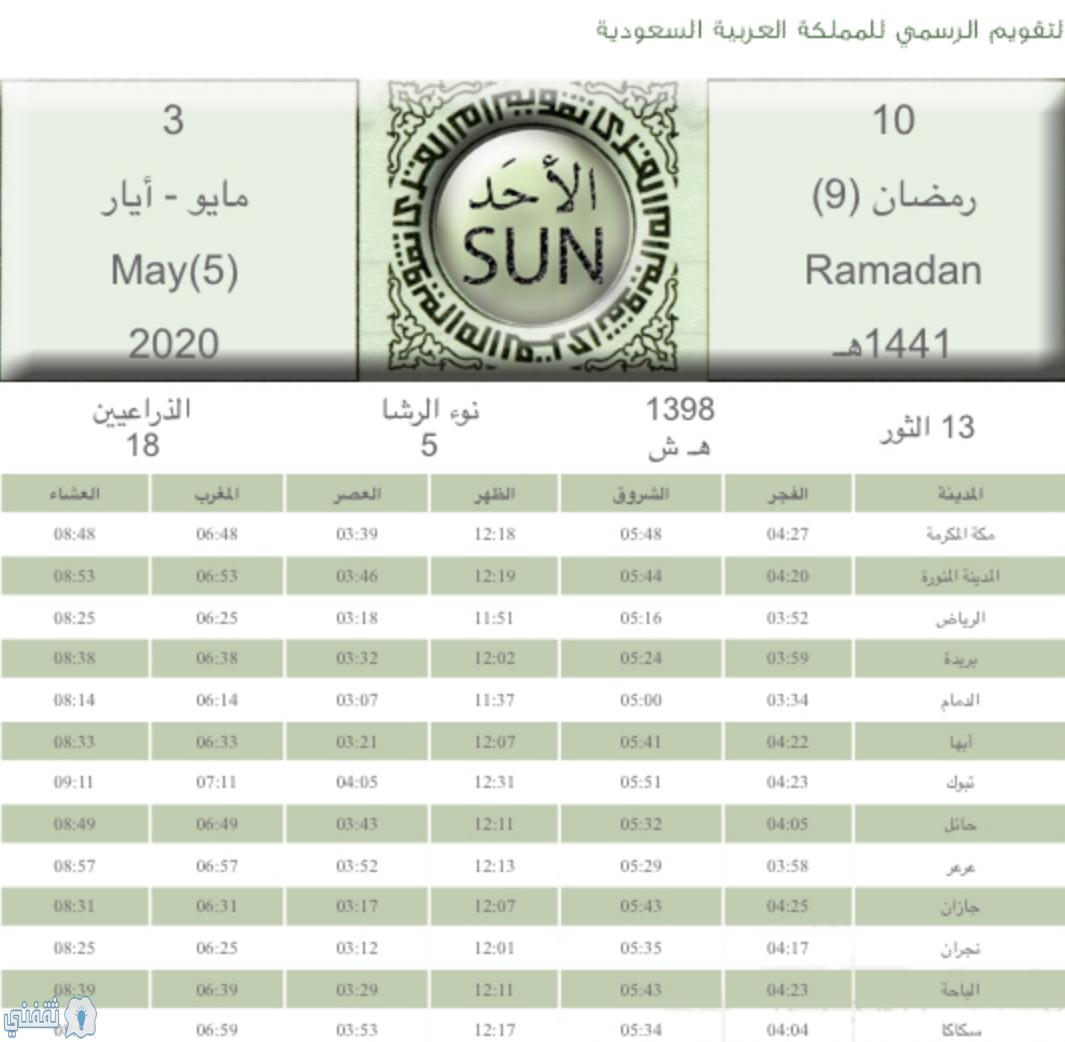 موعد الإفطار اليوم وأذان المغرب لليوم الأحد 10 رمضان 1441 - ثقفني