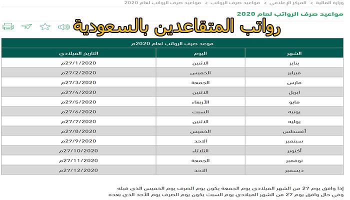 رواتب المتقاعدين في السعودية