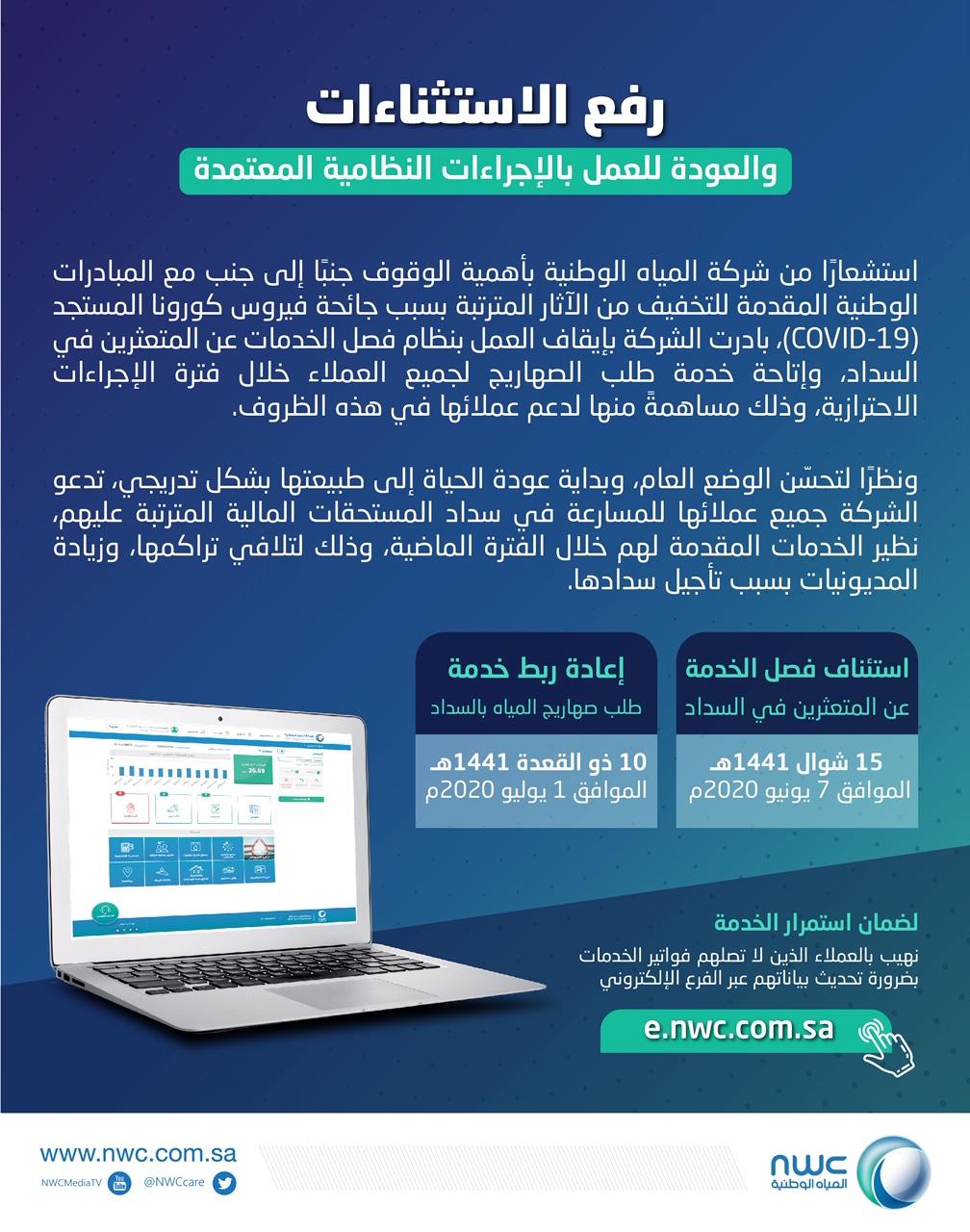 شركة المياه السعودية تعلن عن آخر موعد لسداد الفواتير ...