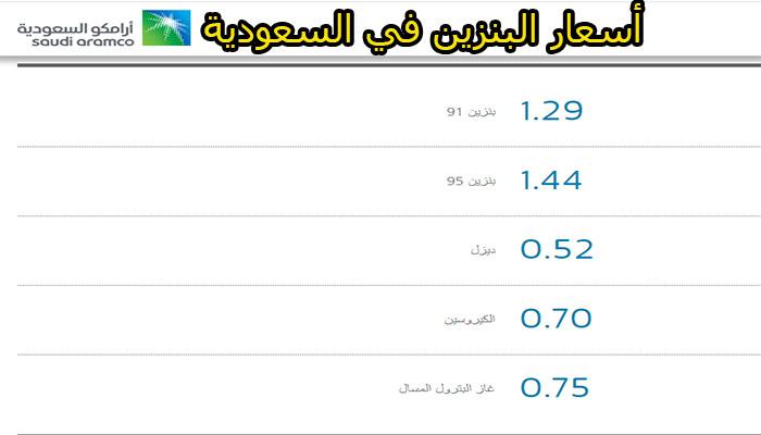 سعر البنزين اليوم في السعودية طبقاً لآخر تحديث من أرامكو ...