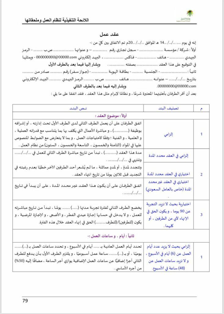 شروط عقد العمل في السعودية وصورة لنموذج العقد والجزاءات التي يمكن التعرض لها بالتفاصيل ثقفني
