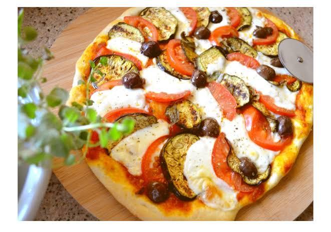 بيتزا الباذنجان المشوي