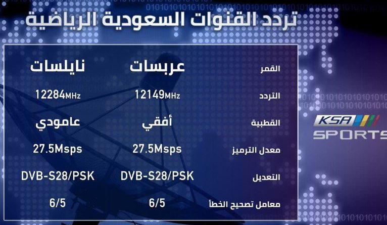 تردد قناة السعودية الرياضية 1 HD نايل سات
