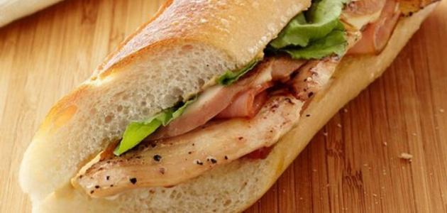 ساندوتش الدجاج المسحب