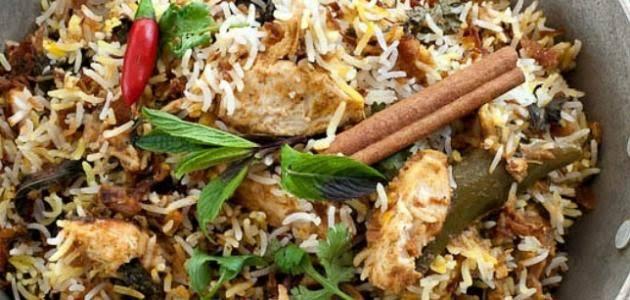 الأرز المشخول مع حبات الهيل