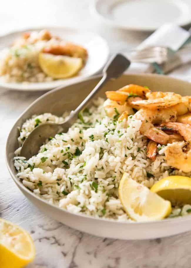الأرز بالشبت والليمون
