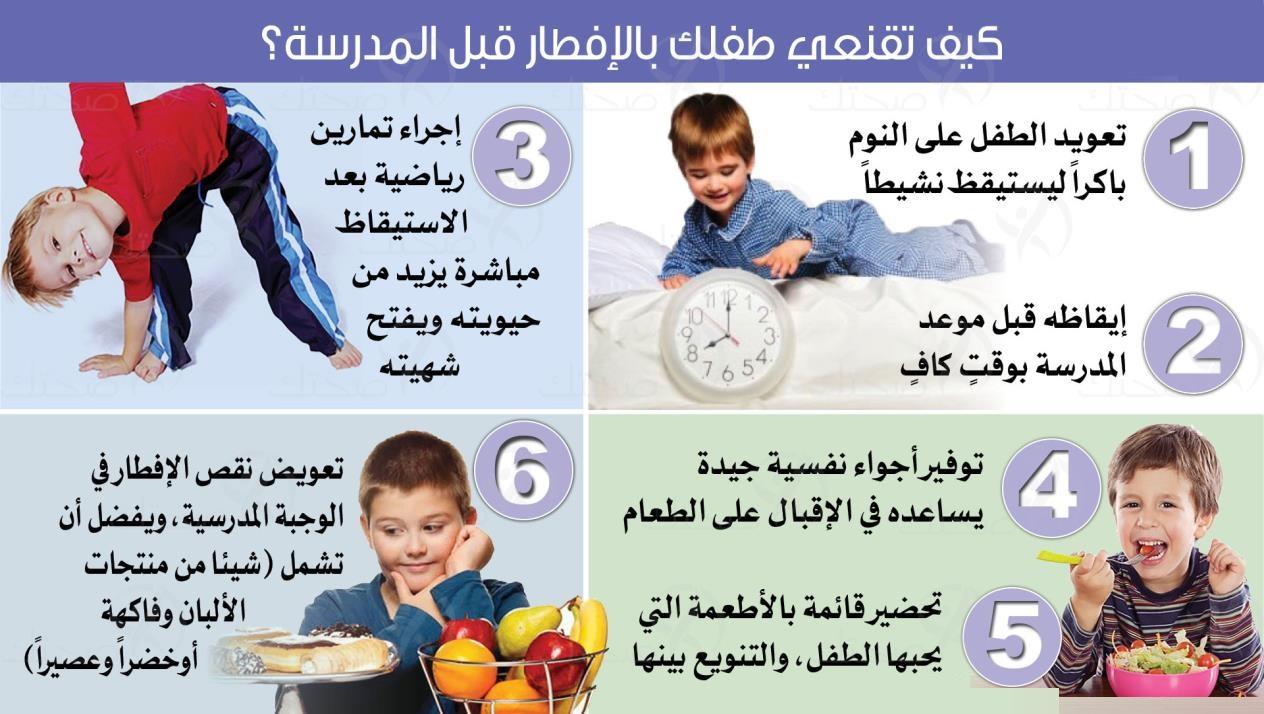 أنواع طعام تقدم الى الطفل لزيادة التركيز والانتباه في المدرسة