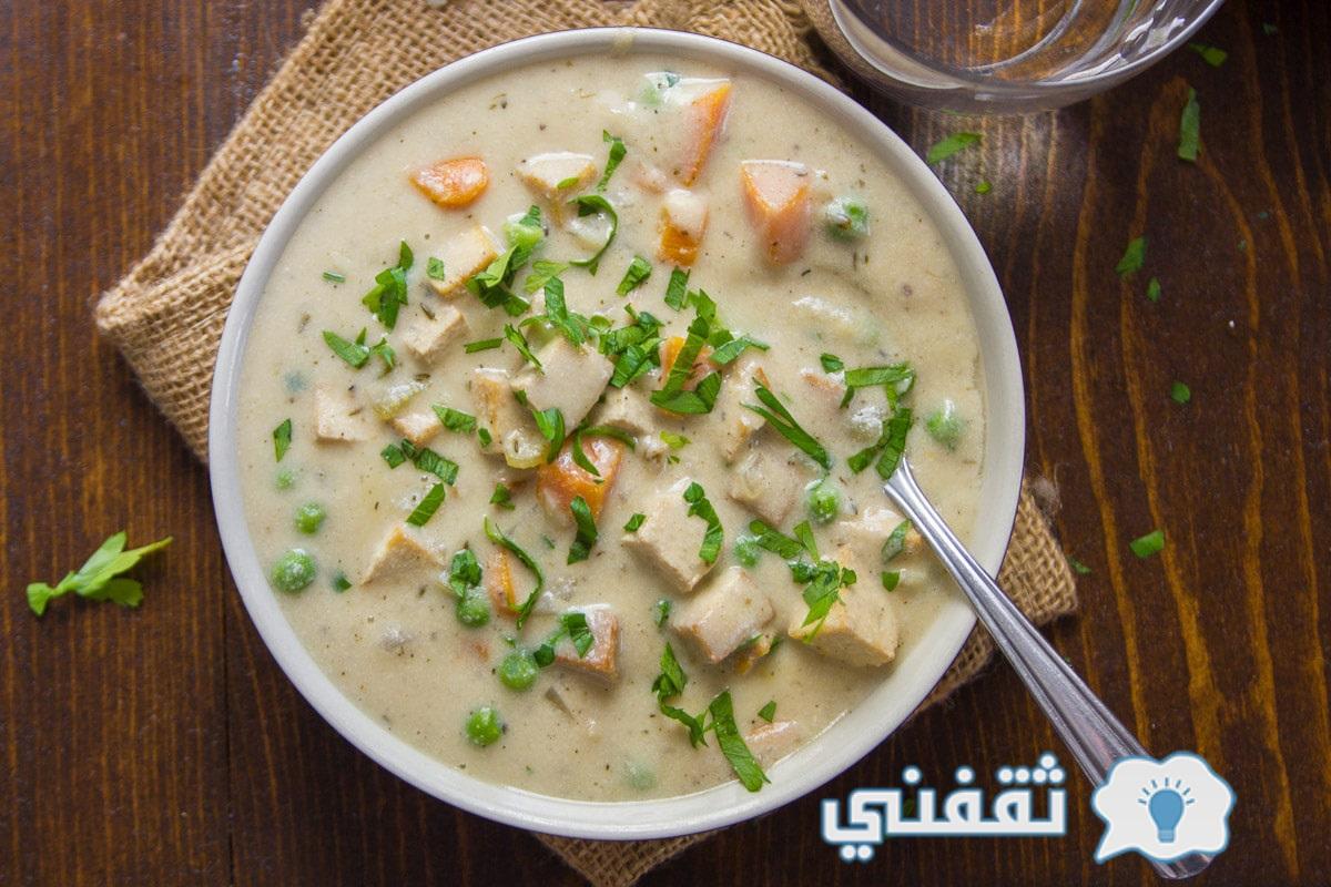 Mushroom soup with cream