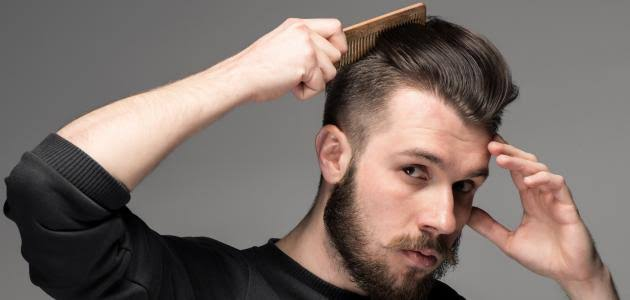 طرق طبيعية لفرد شعر الرجال