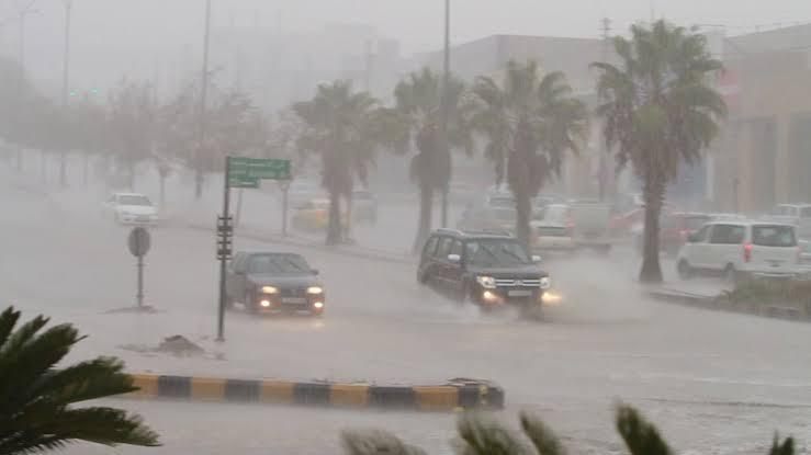 الأمطار الغزيرة على المملكة