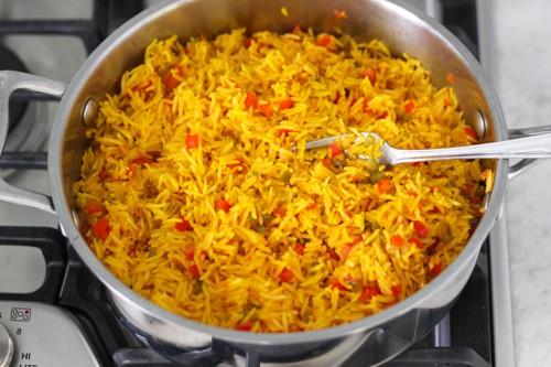 الأرز البسمتي بالفلفل