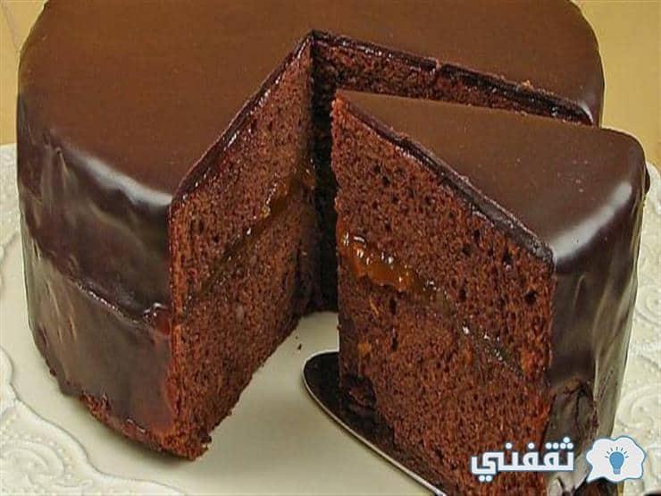طريقة عمل الجاتو شاتوه ( كيكة الشوكولاتة ) الهش الاقتصادي