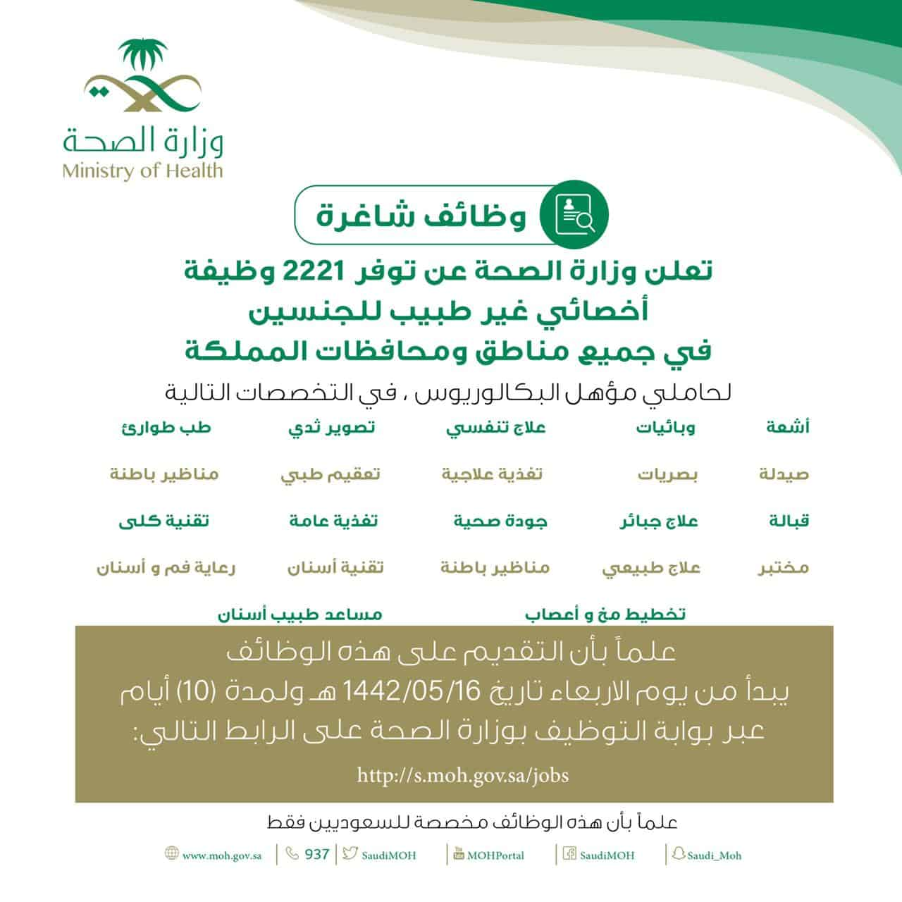 البريد الإلكتروني لوزارة الصحة وطريقة تحديث البيانات سعودية نيوز