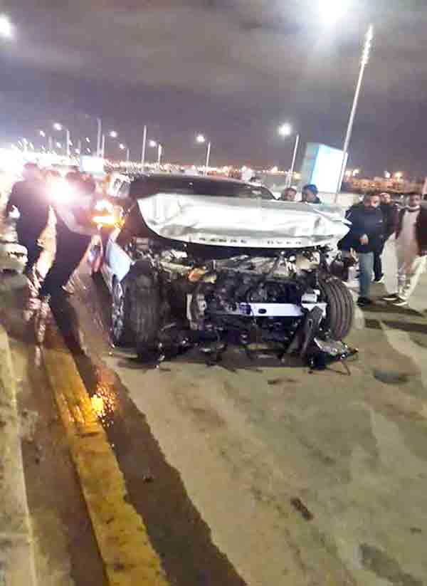عاجل الأن عمرو أديب يتعرض لحادث أليم طريق أكتوبر