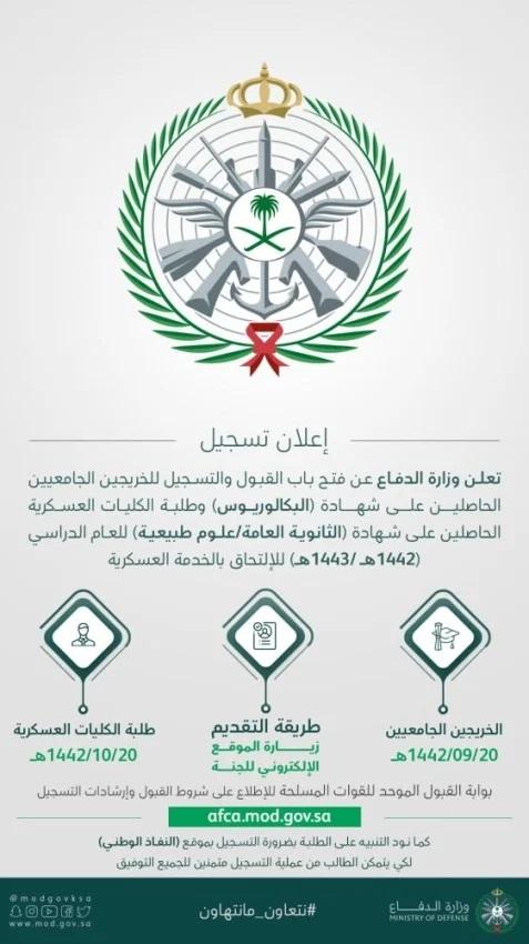 الإعلان-عن-شروط-الالتحاق-بالخدمة-العسكرية-و-موعد-فتح-التسجيل-للطلاب