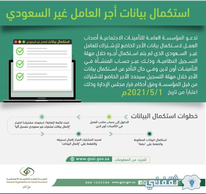 بشري سارة من التأمينات الإجماعية بشان رفع أجور العاملين السعوديين