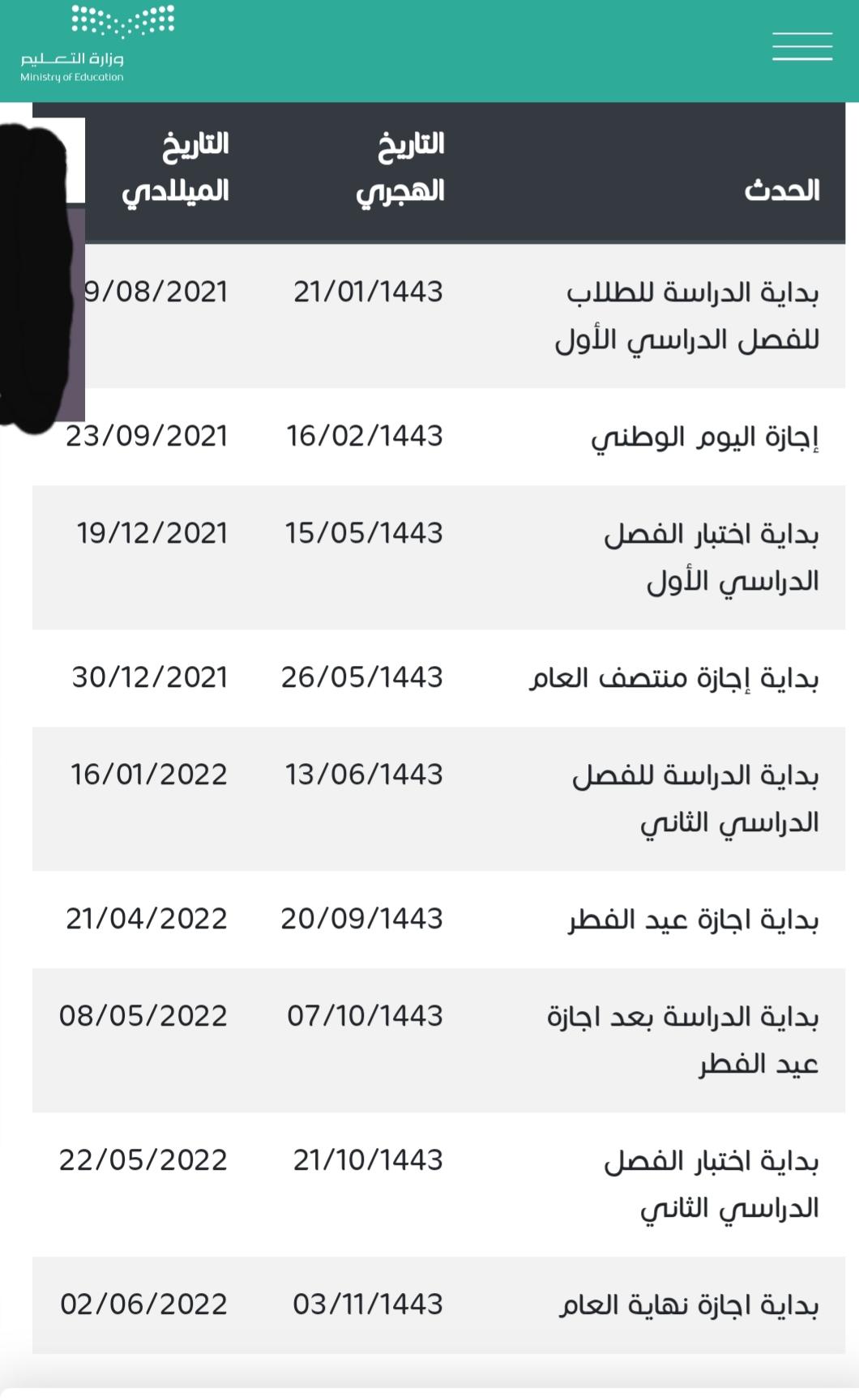 وزارة التعليم السعودية وتحويل العام الدراسي إلى ثلاثة فصول1443 الجدول المقترح