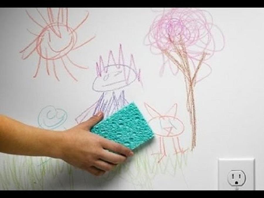أسرع طريقة تنظيف الحوائط من الحبر