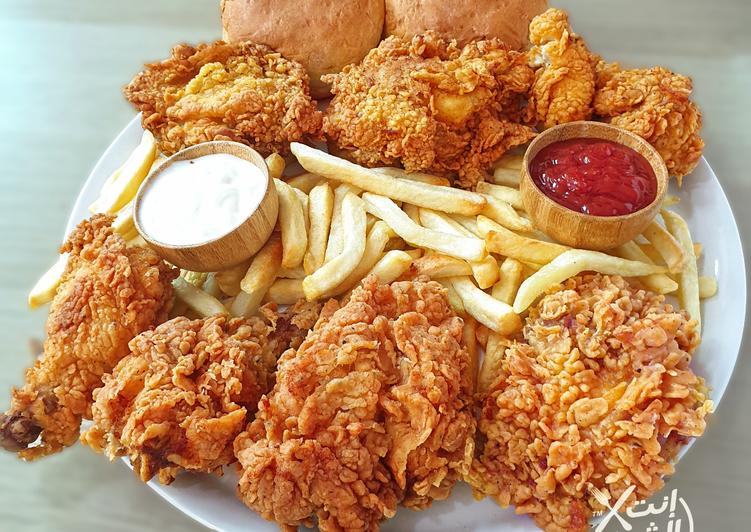 سر طريقة عمل دجاج كنتاكي المقرمش في المنزل وسر الخلطة الأصلية