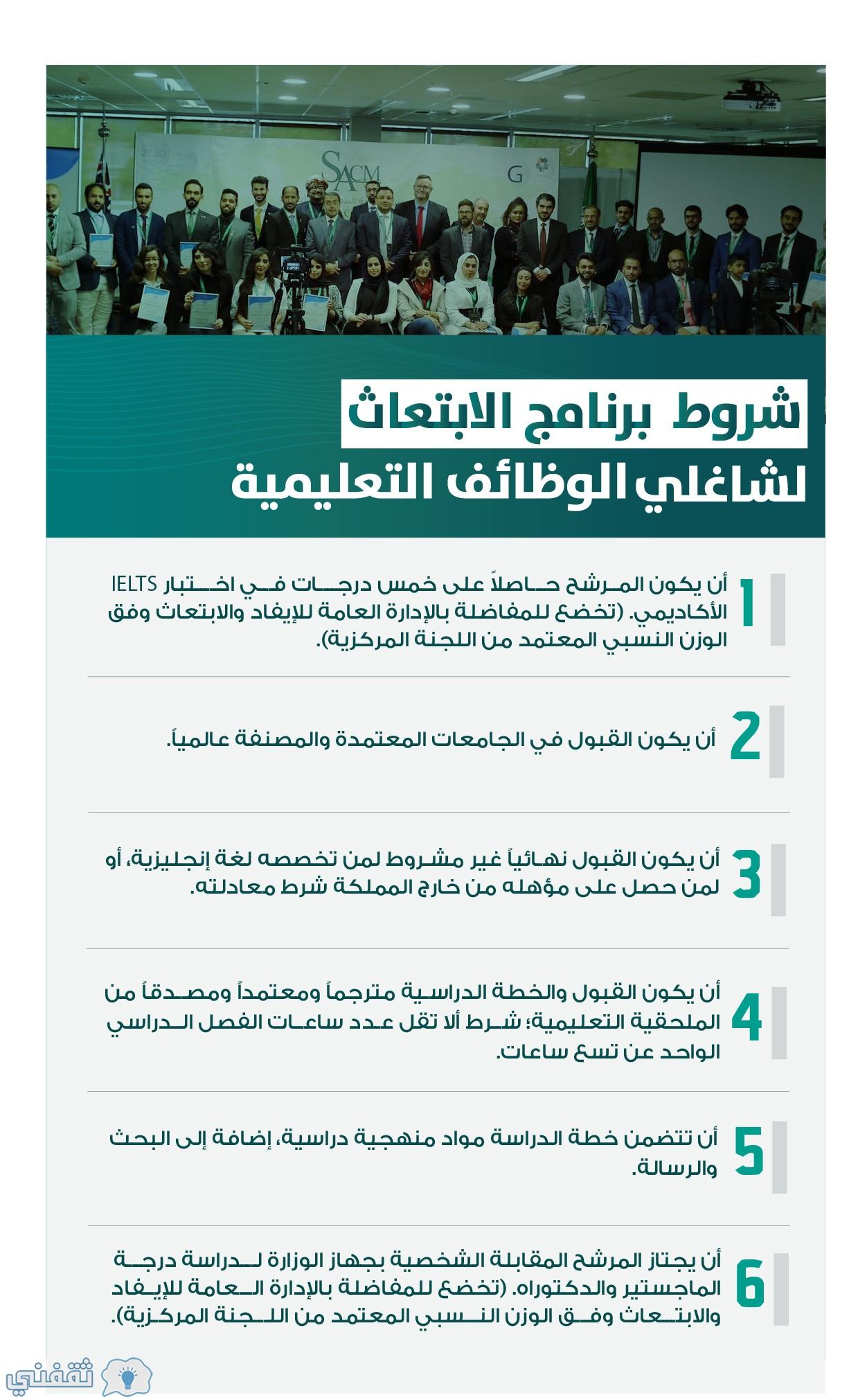 برنامج الابتعاث الخارجي لشاغلي الوظائف التعليمية