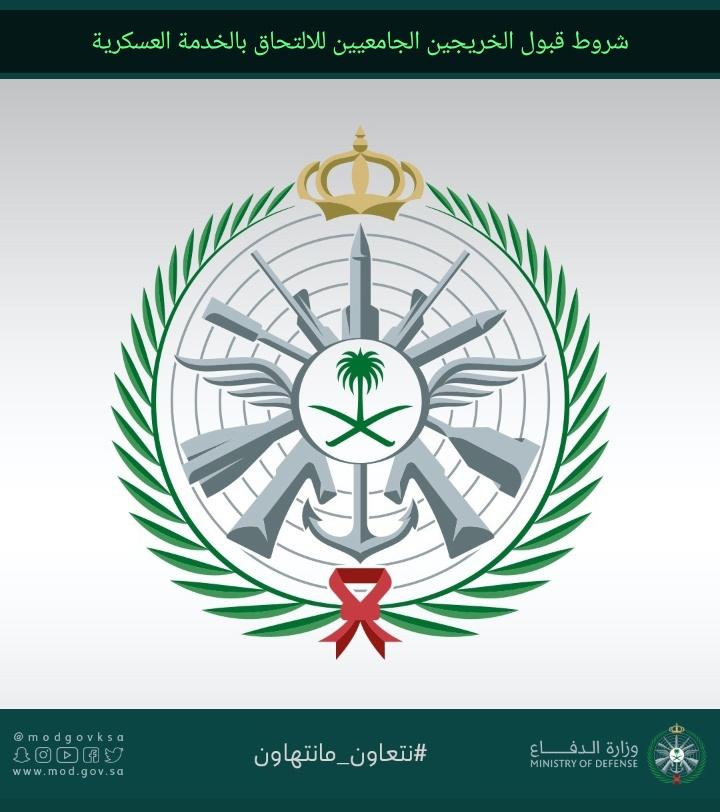 شروط قبول الخريجين الجامعيين للالتحاق بالخدمة العسكرية وموعد ورابط التسجيل