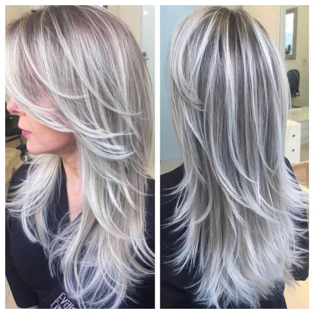 صبغ الشعر رمادي الاشقر فاتح وغامق بدون صبغات او اى مواد كيميائية نتيجة مبهرة