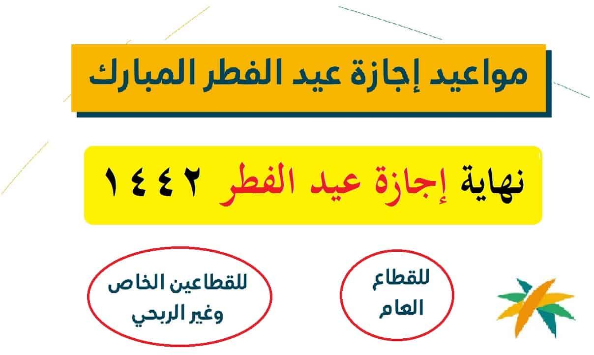موعد نهاية إجازة عيد الفطر السعودية 1442: متى أول أيام عيد الفطر المبارك 2021