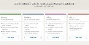 الحساب البريميوم المدفوع من لينكد إن linkedin