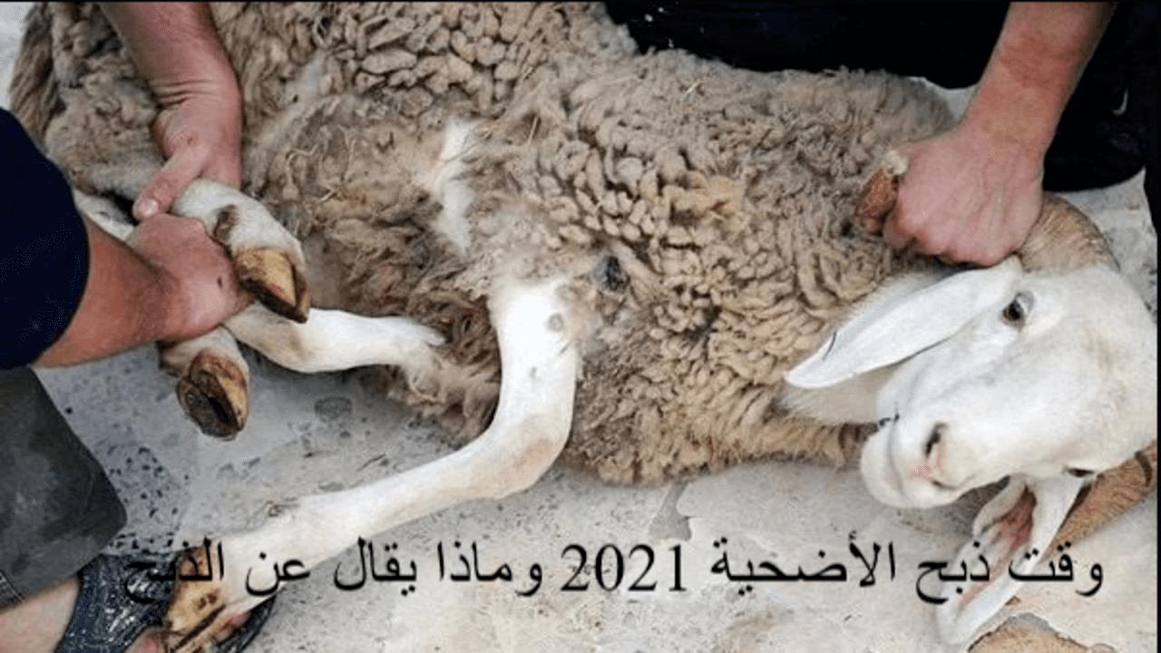 وقت ذبح الأضحية 2021