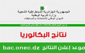 استخراج نتائج البكالوريا 2021 الجزائر حسب رقم التسجيل