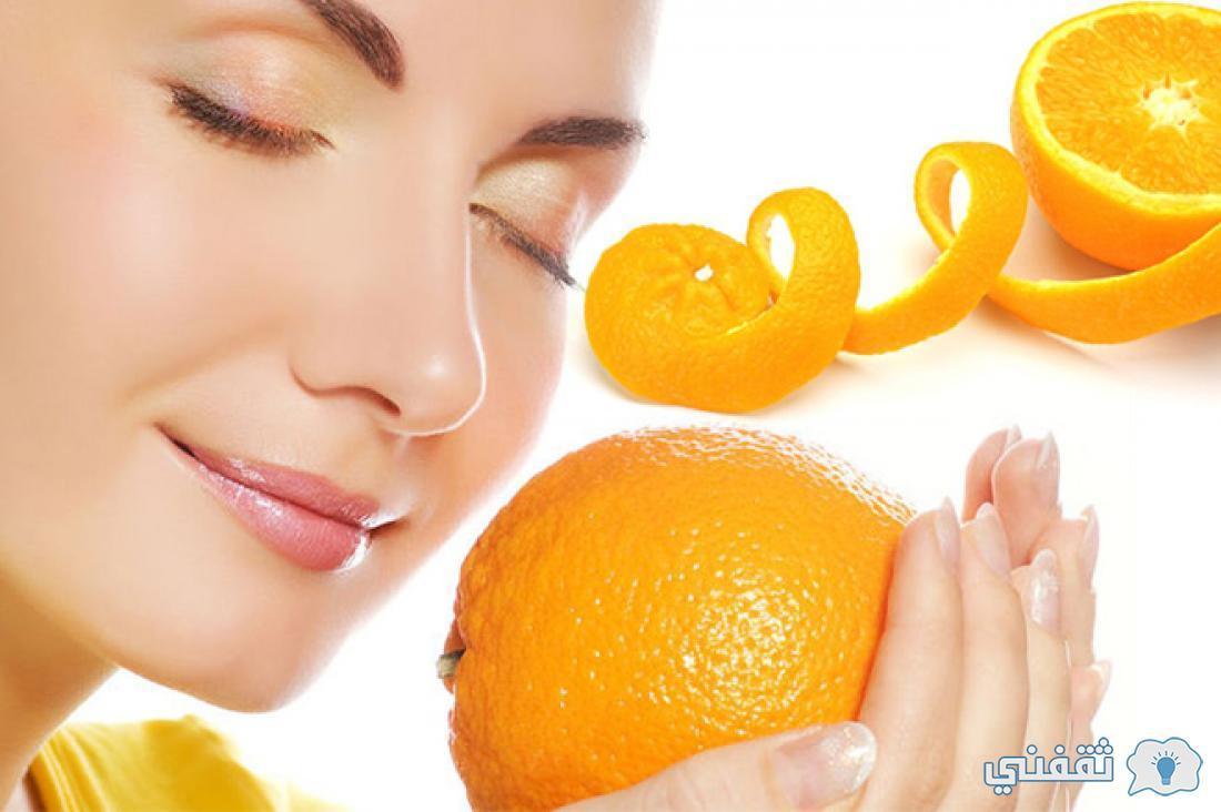 كريم النشا وقشور البرتقال
