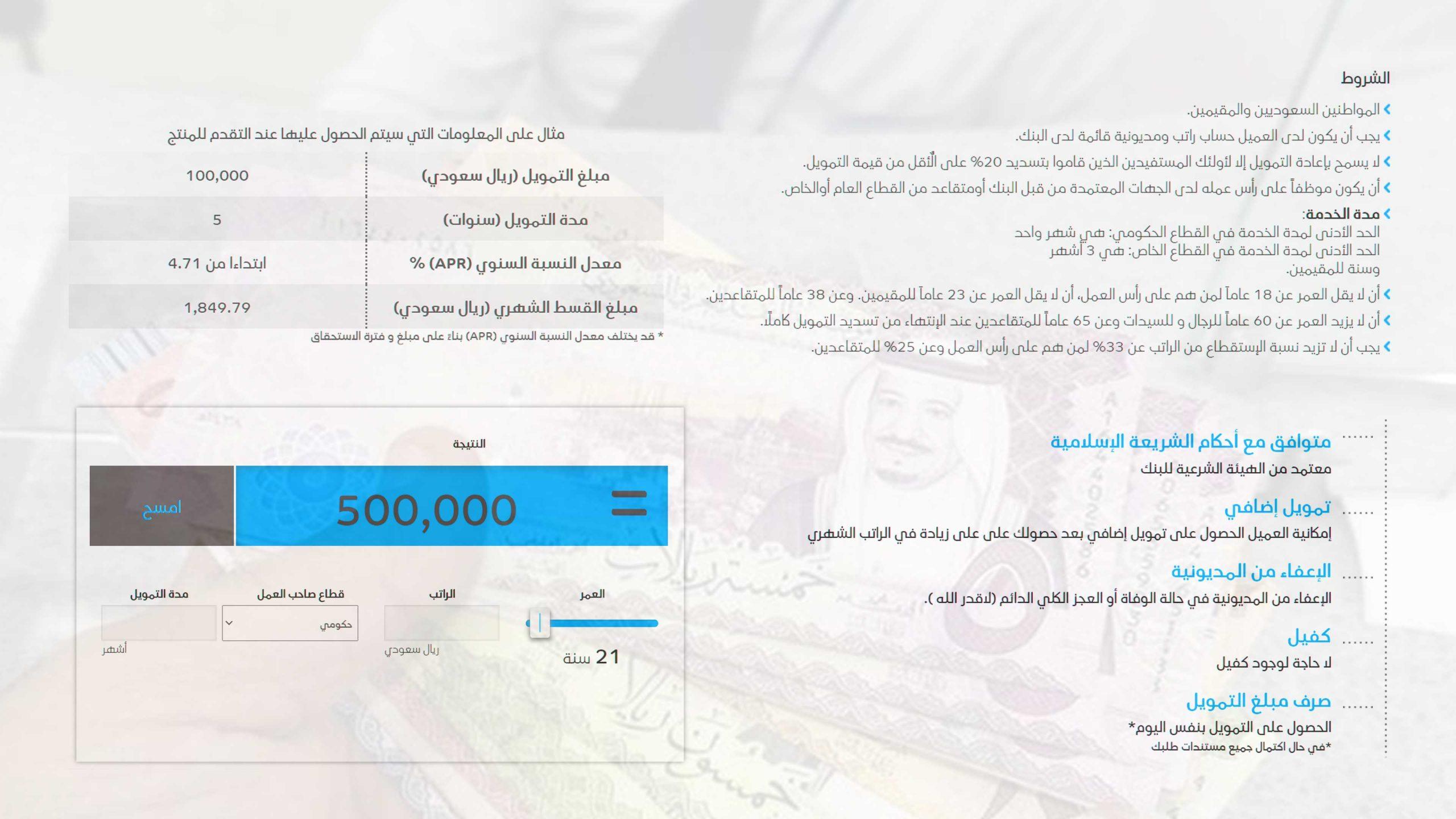 قرض بدون كفيل للمقيمين ، للمتقاعدين ، للسعوديين وغير السعوديين