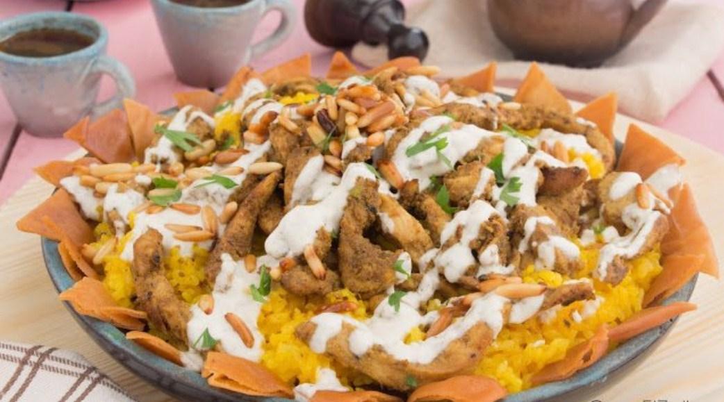 طريقة عمل فتة شاورما دجاج بالطريقة السورية الأصلية مثل أبو مازن