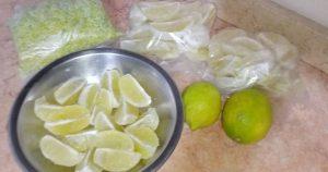 طرق لتخزين الليمون